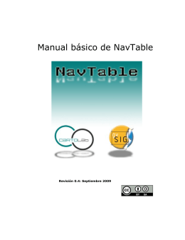 Manual básico de NavTable