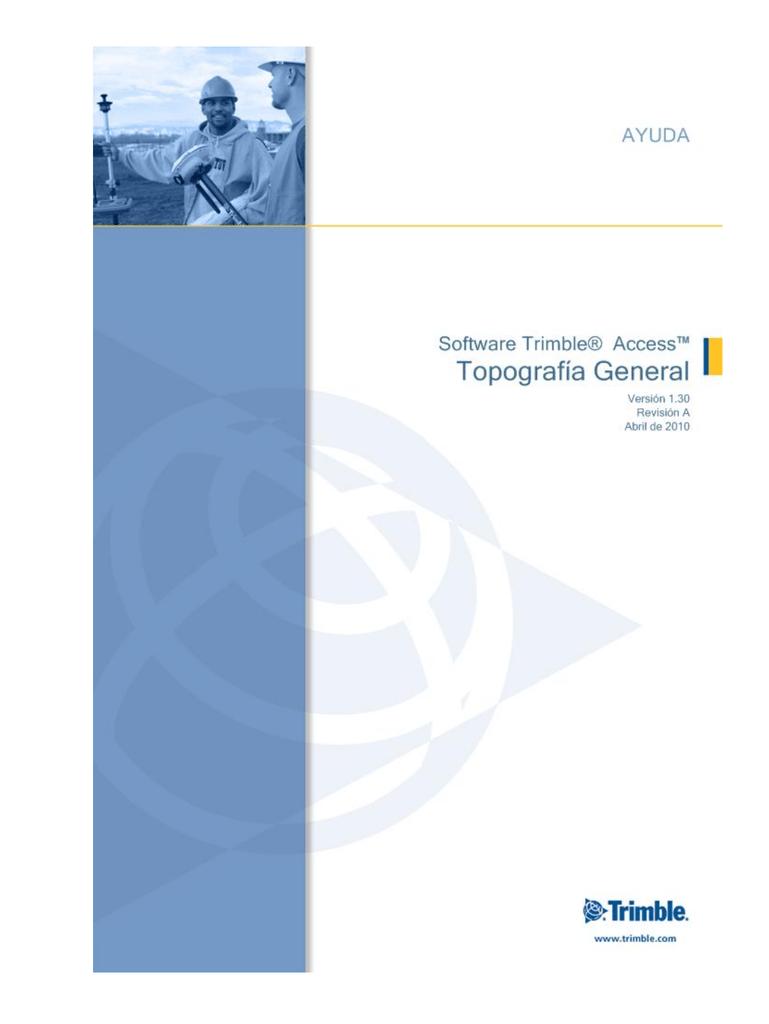 Trimble Access - Manual Usuario