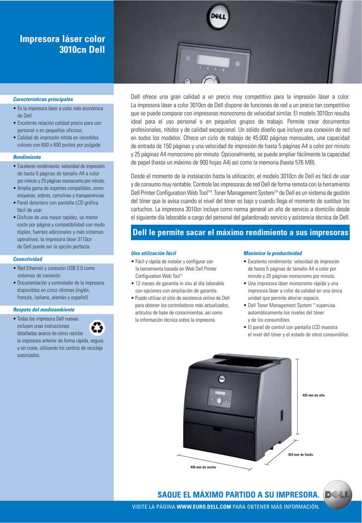 Impresora láser color 3010cn Dell