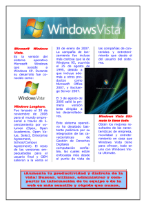 Microsoft Microsoft Windows Vista. Windows Longhorn Windows