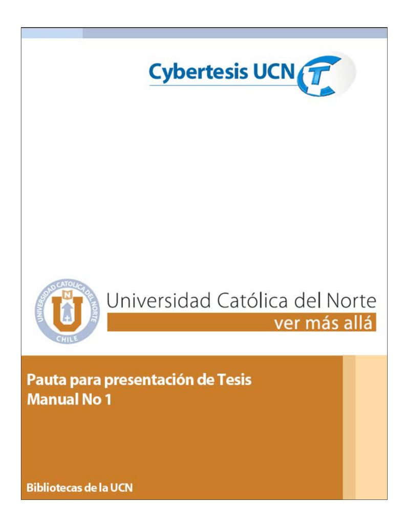 ESTRUCTURA TESIS - Online UCN - Universidad Católica del Norte