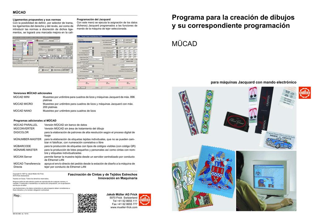 Programa para la creación de dibujos y su