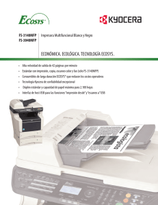 Especificaciones - KYOCERA Document Solutions