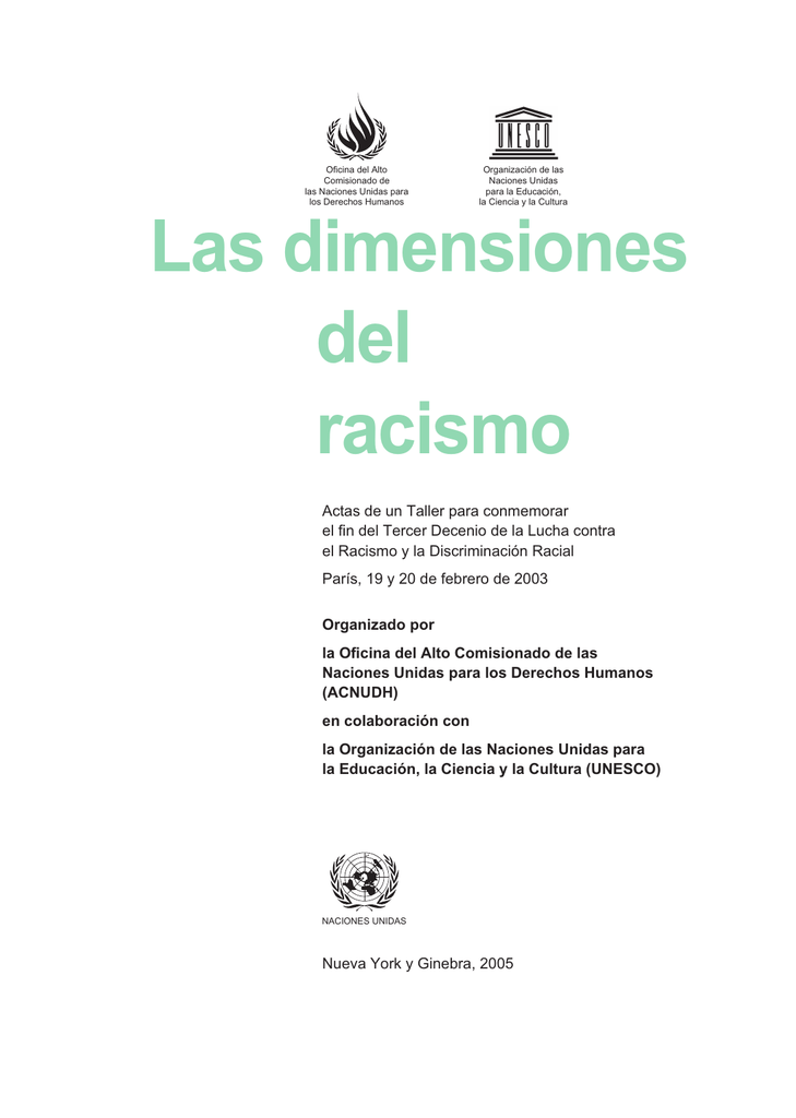 Las dimensiones del racismo