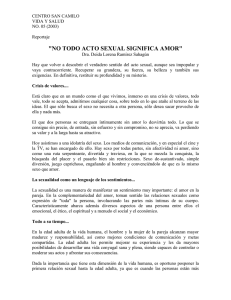 Acto sexual y amor - Biblioteca Virtual CSC