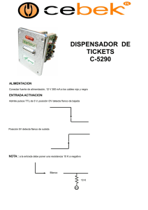 dispensador de tickets c-5290