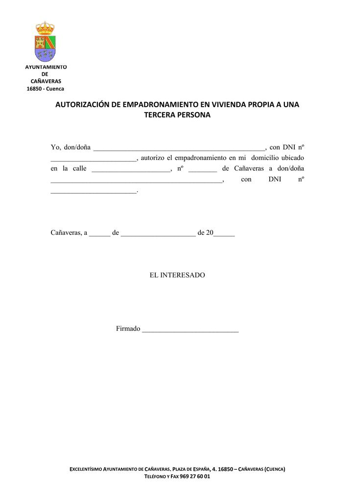 Autorizacion Recogida Certificado Empadronamiento Cortes De Pelo Para Pelo Corto 2019