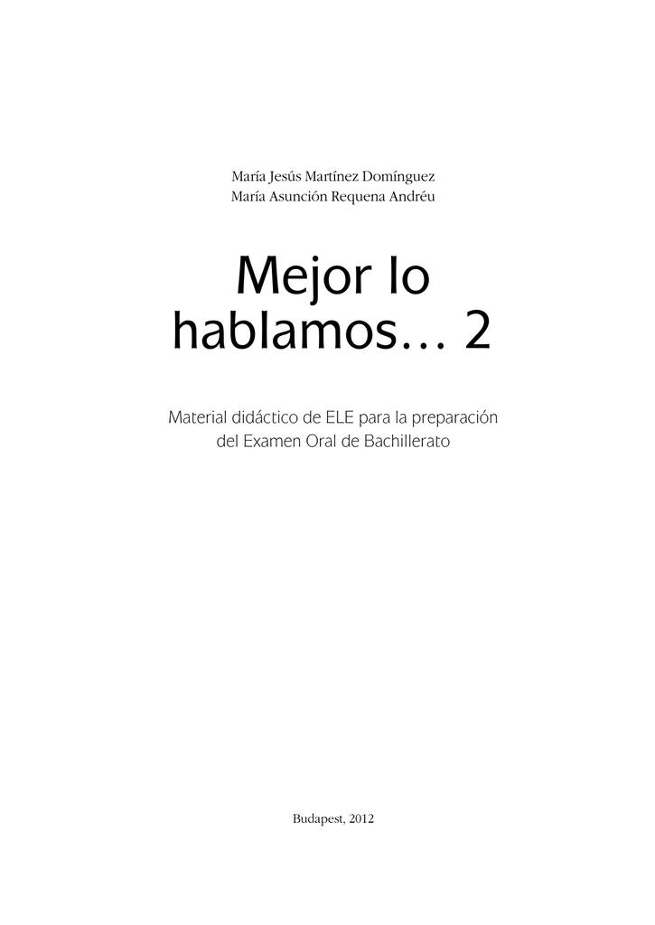030cf119 Mejor lo hablamos… 2 - Ministerio de Educación, Cultura y Deporte