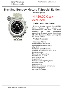 Breitling Bentley Motors T Special Edition 4 450,00 € tax excluded