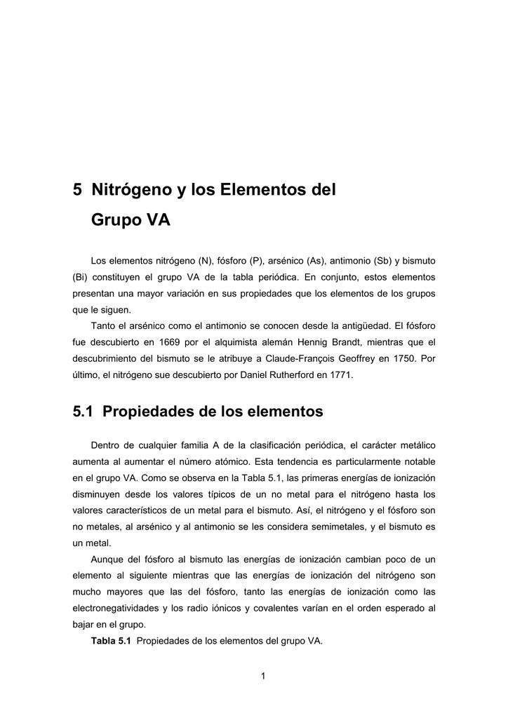 Qm 1123 nitrgeno y los elementos del grupo va urtaz Gallery