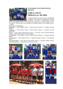 CHILE CINCO MEDALLAS DE ORO