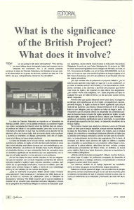 What is the significance of the British Project? What does it involve?