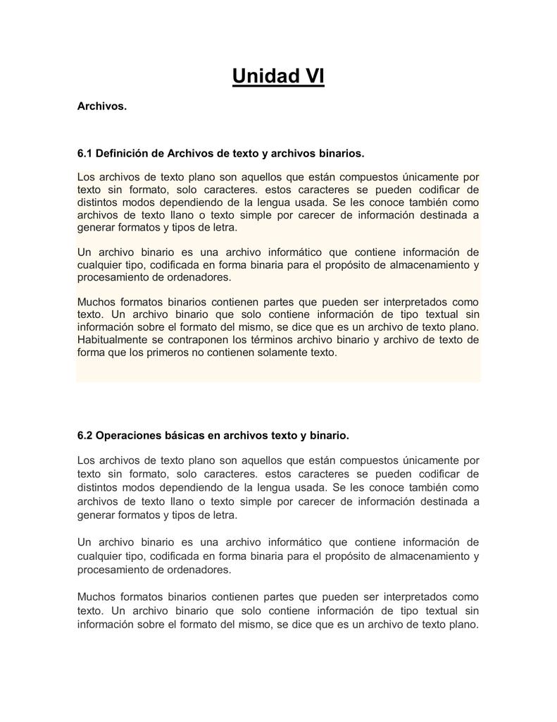 Flujos y Archivos.