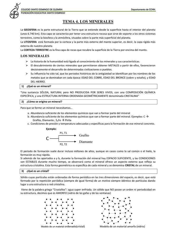 Tema 4 Los Minerales