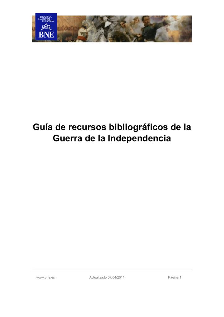 De Independencia La Recursos Bibliográficos Guerra Guía qpzMGjLUVS