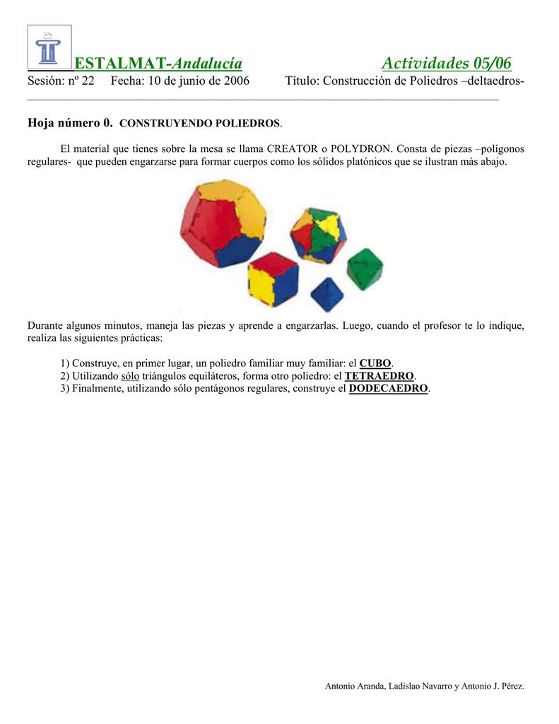 Deltaedros y poliedros