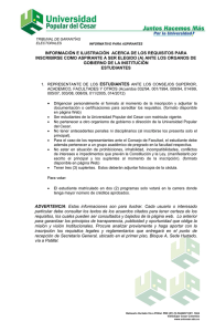 requisitos candidatos a elecciones estudiantes
