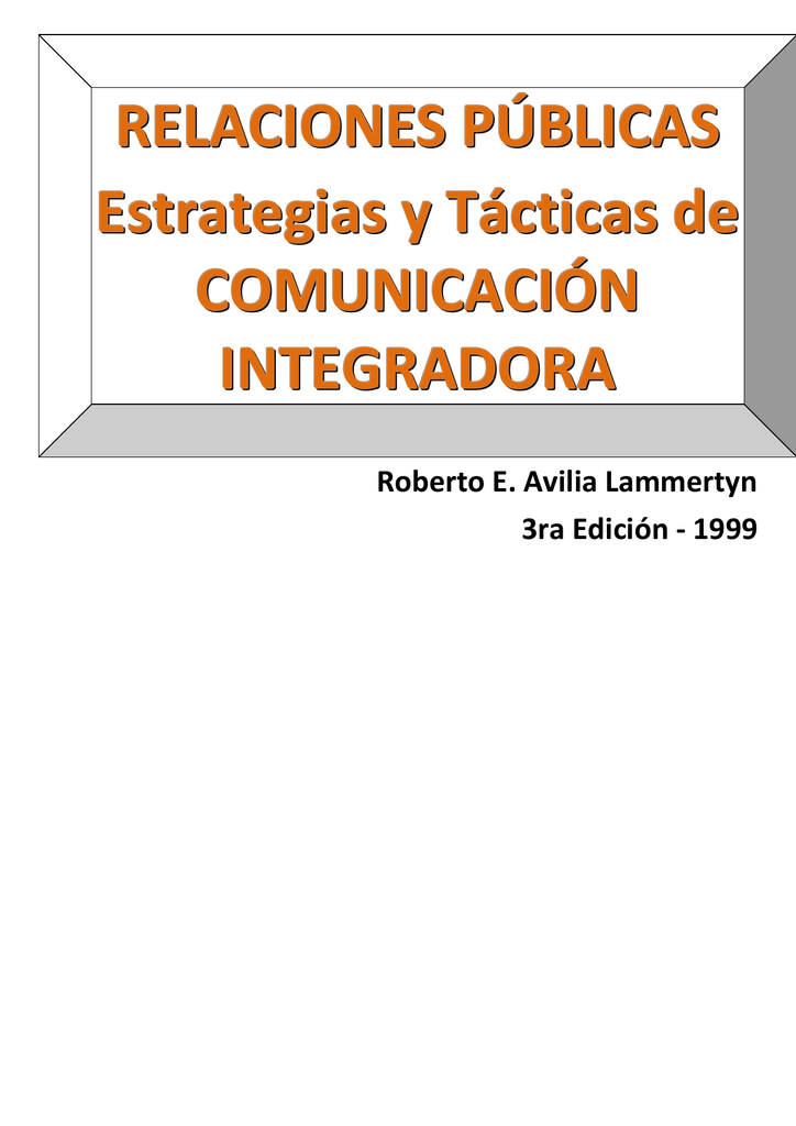 Relaciones Públicas Integradoras REAL