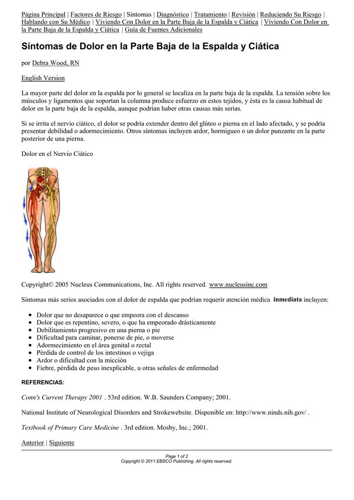 dolor de espalda por la pierna al pie