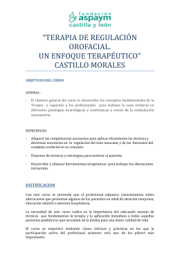 Terapia de regulación orofacial