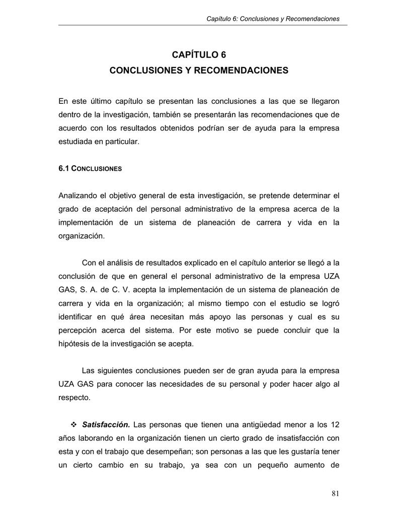 Capítulo 6 Conclusiones Y Recomendaciones