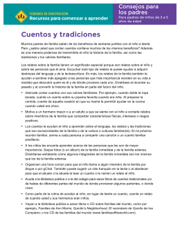 Cuentos y tradiciones - Resources for Early Learning