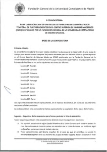 Bases de la convocatoria - Universidad Complutense de Madrid