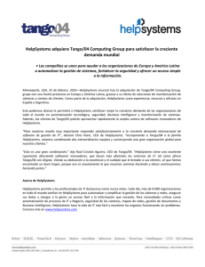 HelpSystems adquiere Tango/04 Computing Group para satisfacer