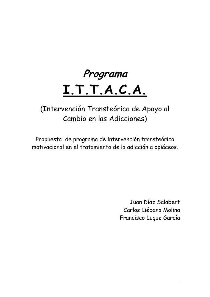 Programa De Intervención Transteorica Y
