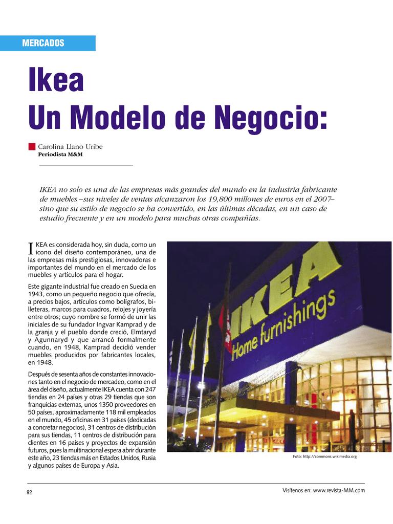 Ikea Un Modelo de Negocio: