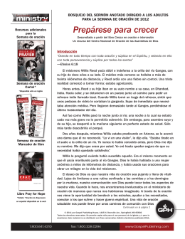 Prepárese para crecer - Gospel Publishing House