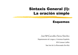 Sintaxis General (I): La oración simple