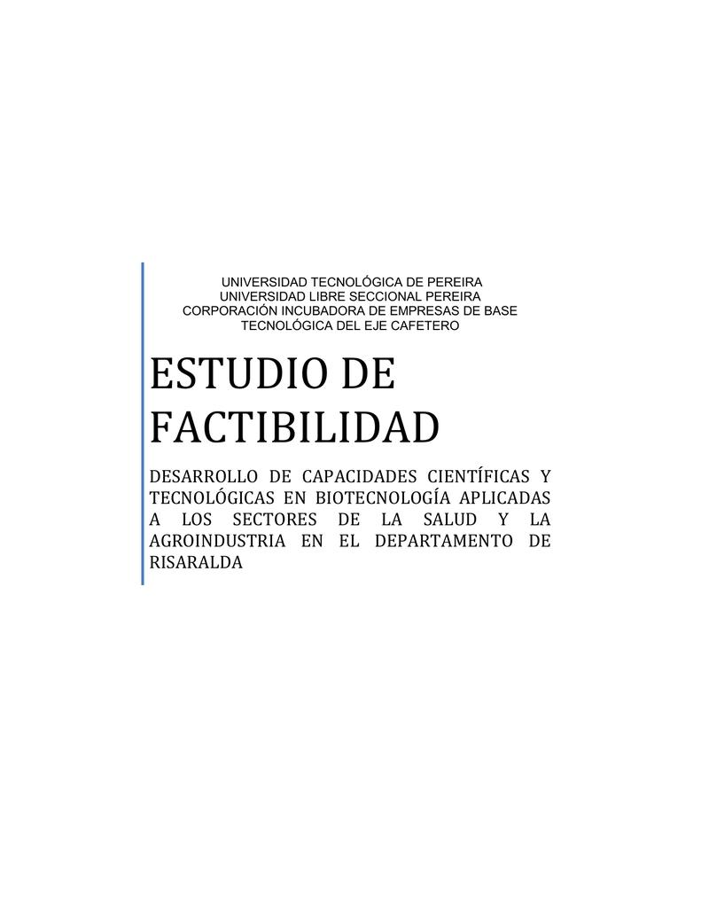 estudio de factibilidad - Universidad Tecnológica de Pereira