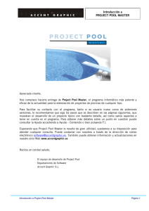 Introducción a PROJECT POOL MASTER