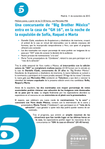 "Una concursante de ""Big Brother México"" entra en la"