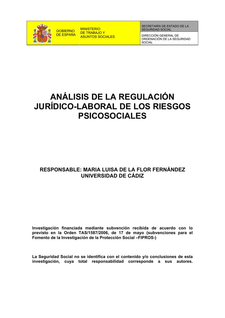 análisis de la regulación jurídico-laboral de los