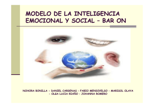 MODELO DE LA INTELIGENCIA EMOCIONAL Y SOCIAL – BAR ON