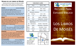 Los Libros De Moisés - Living Water Church