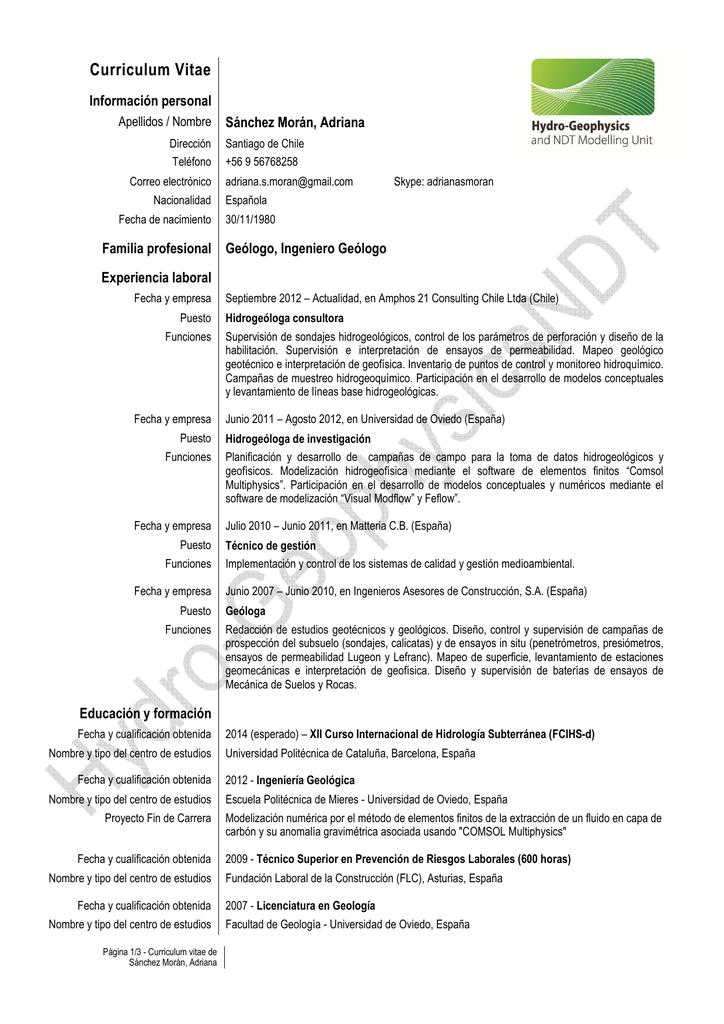 CV Adriana Sánchez Morán UNIT