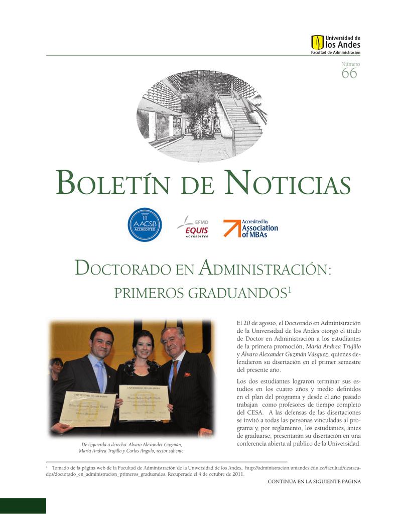 Boletin De Noticias Facultad De Administracion