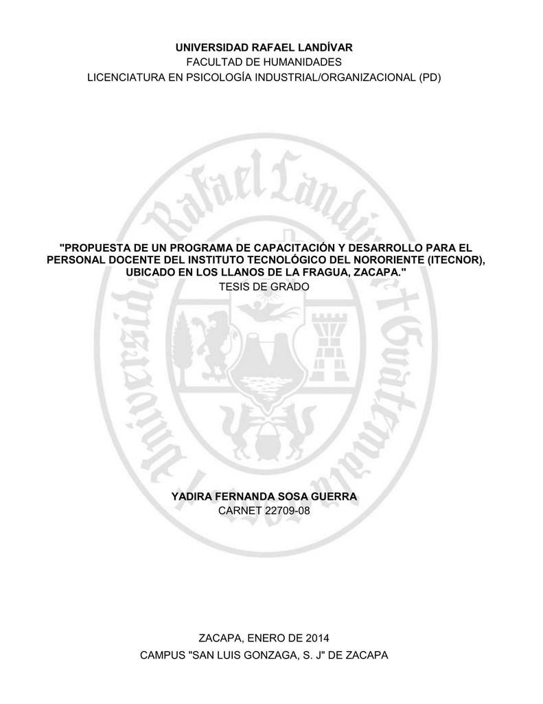 Propuesta De Un Programa De Capacitación Y Desarrollo Para El