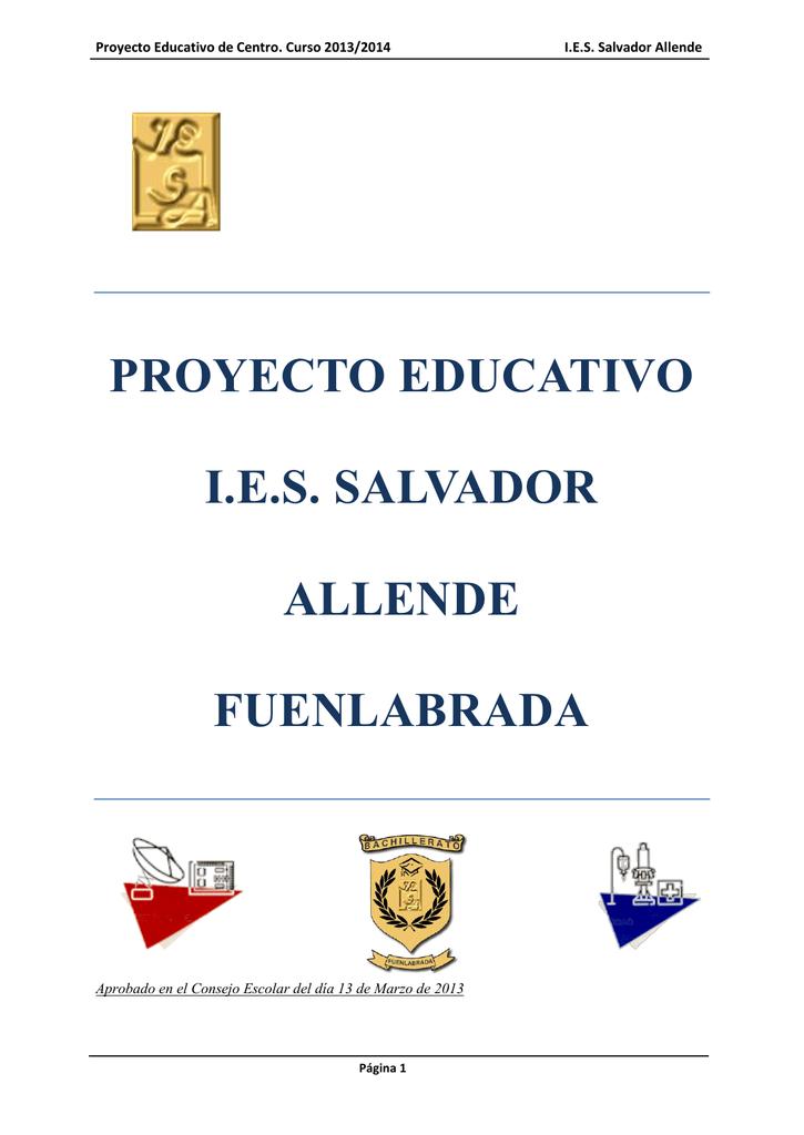 Proyecto Educativo Ies Salvador Allende Fuenlabrada