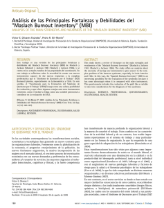 "Maslach burnout inventory"" (Mbi)"