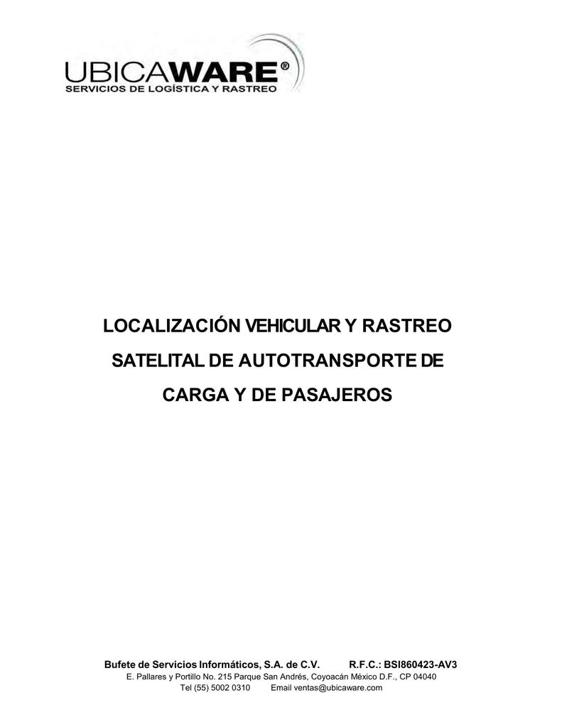Localización Vehicular Y Rastreo Satelital