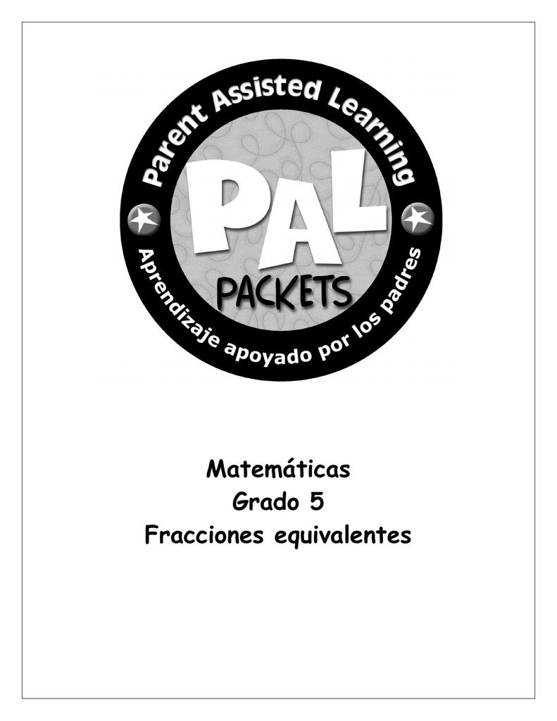 Matemáticas Grado 5 Fracciones equivalentes