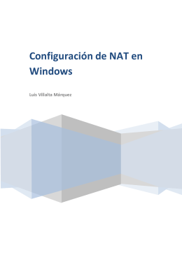 NAT en Windows