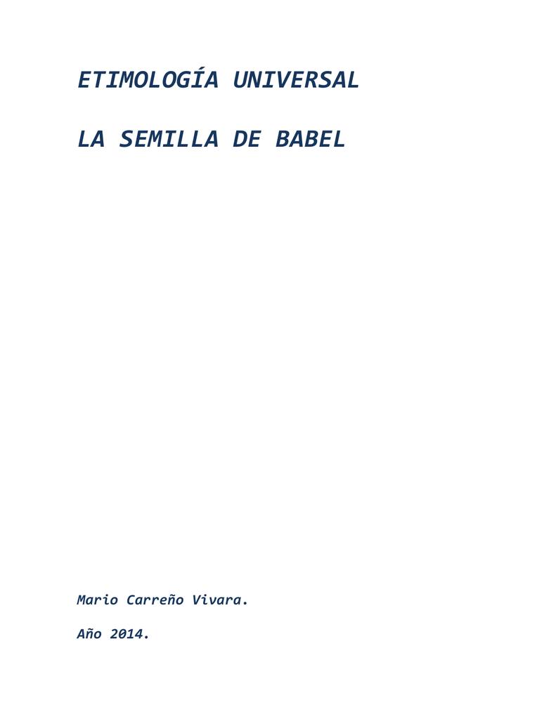 Etimología universal compartida el 03-08-2014