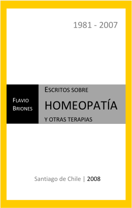 Escritos sobre homeopatia