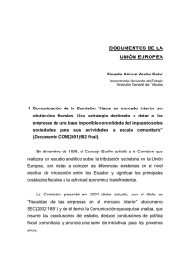 documentos de la unión europea - Instituto de Estudios Fiscales