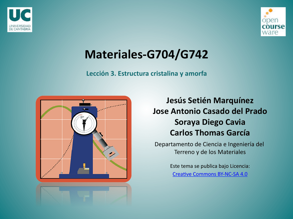 Materiales G704 G742 Tema Iii Estructura Interna De Los
